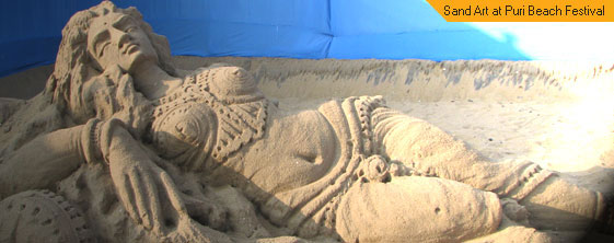 Sand Art at Puri Beach Festival