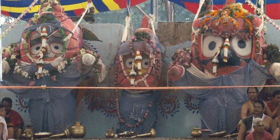 Three Deities on the bathing pendal