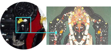 Lord Alarnath with his burnt fingers highlighted